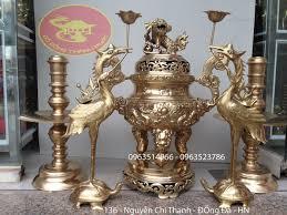 Bộ đồ thờ cúng bằng đồng mộc và cách lựa chọn phù hợp