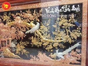 Mẫu tranh đồng vinh hoa phú quý mạ vàng cao cấp